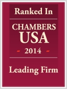 Wilentz Lawyers and Practices Earn Top Rankings from Chambers USA 2014